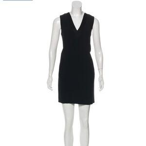 American Apparel V-neck Sleeveless Mini Dress Blk